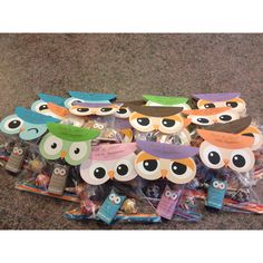 Owl miss you!  Have a HOOT this summer!  I found the free printable owl bag toppers and candy wrappers on separate sites and created these for my daughters class.