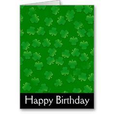 happy birthday irish | Shamrock March Irish Happy Birthday Card