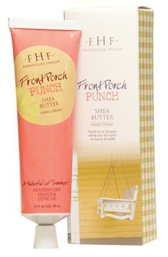 FarmHouse Fresh Front Porch Punch Shea Butter Hand Cream (2.4 oz. Tube with Decorative Box)