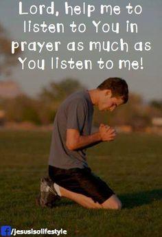 Help me listen to You as much as You listen to me https://www.facebook.com/ChristianTodayInternational/photos/10152849098749916
