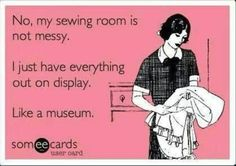 My sewing room.  HAHAHAHA!
