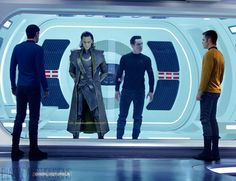 Apparently SHIELD and Starfleet are in cahoots now? Dude. Benedict Cumberbatch, Tom Hiddleston and Zachary Quinto all at the same time? I'm almost relieved this isn't happening, because I'm pretty sure I'd hyperventilate and die.
