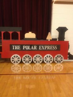 how to make a polar express train from cardboard boxes Polar Express Party, Polar Express Christmas Party, Polar Express Activities, Polar Express Train, Ward Christmas Party, Christmas Program, Office Christmas, Xmas Party, Kids Christmas