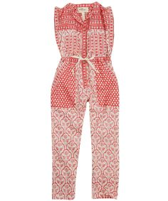 Short Sleeve Printed Playsuit by Isabel Marant