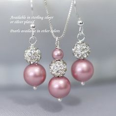 Swarovski Powder Rose Matte Pink Pearl by alexandreasjewels