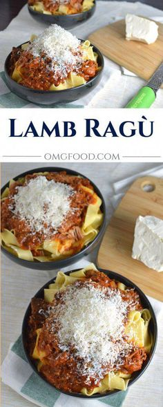 Ragù Lamb Ragù - Greek style braised lamb with a hint of cinnamon over pappardelle pasta and topped with freshly grated mizithra cheese. Lamb Recipes, Greek Recipes, Pasta Recipes, Dinner Recipes, Cooking Recipes, Turkish Recipes, Vegetarian Recipes, Jewish Recipes, Italian Recipes