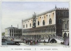 Venezia, Il Palazzo Ducale (National Library of Poland - 1847, lithography)