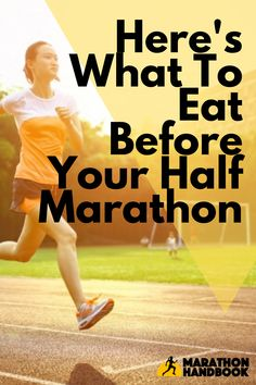 This awesome nutrition guide spells out exactly what to eat before a half marathon; it tells you what to eat the night before a half marathon, when to eat before and during the half marathon. Half Marathon Training Plan, Marathon Tips, Running Tips, Running Humor, Road Running, Running Shoes, Nutrition For Runners, Nutrition Guide, Half Marathon Motivation