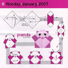 Very Easy Origami Cranepanda Bear
