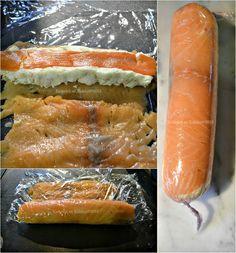 Recette des rouleaux de saumon farci au fromage blanc, saumon fumé, zestes de citron et carotte à la vapeur pour Culino Versions - Kaderick ...