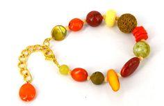 Autumn Harvest #Bracelet - : #Jewellery-Bracelets, Bracelet #Beads and Bangles : Beads Jewellery Pearls Swarovski Beading Supplies 925 Silver http://www.beadthemup.com.au/estore/style/autumn%20harvestb.aspx