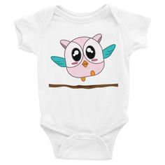 Hoo Hoo the Baby Owl Onesie, Shirts, matching family outfits - Winky Shiba Co. Baby Owls, Matching Family Outfits, Shiba, Baby Bodysuit, Onesies, Infant, Cute, Kids, Clothes