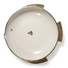Fish Bowl with Gold Detail by Jonathan Adler