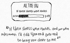 If These Sheets Were the States ♥ -All Time Low