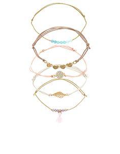 4 x Sorbet Pretty Friendship Bracelets | Pink | Accessorize