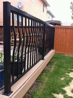 Deck Railing | basket weave black deck railing from Regal Rail | Bayer Built Woodworks
