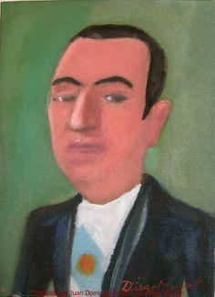 Juan Peron. Cuadro en venta de la Serie Historia Argentina del artista plastico Diego Manuel