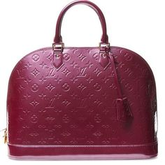 Louis Vuitton Violette Monogram Vernis Alma Gm