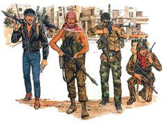 """Battleground Lebanon""  • Palestinian Guerrilla (El-Fatah), Tyre, June 1982  • Palestinian Guerrilla (ALF), Beirut, July 1982  • Palestinian Guerrilla (El-Fatah: Abu Mussa Faction), Tripoli, 1983  • Palestinian 'Commando' (PFLP-GC), Damur, 1988   Ronald Volstad"