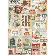Vintage Tea Poster   Queen Mary Tea