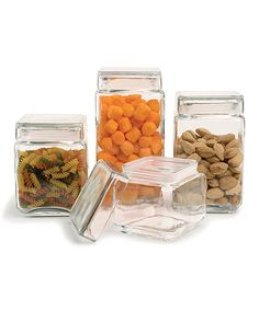 Love this Glass Canister Set by Circle Glass on #zulily! #zulilyfinds