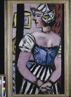 ~ L'hollandaise ~ Max Beckmann,  1884- 1950, German painter,  member Sezession. 1937-1947 working in Amsterdam.  From 1947 to his death in 1950 in NY