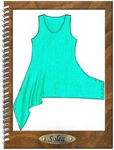 Designer Schnittmuster Lagenlook Tunika Solea