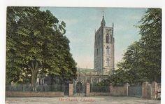 The Church Cheddar Vintage Postcard 0814