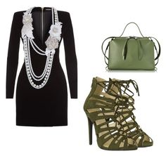 """""""robe bijoux sexy"""" by asma150302 ❤ liked on Polyvore featuring Balmain and Jil Sander"""