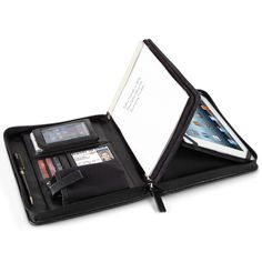 The Executive's iPad Folio - Hammacher Schlemmer My life would be SO organized with this.