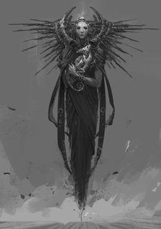 The amazing digital art of su jian Fantasy Kunst, Dark Fantasy Art, Dark Art, Arte Horror, Horror Art, Arte Obscura, Susanoo, Creature Concept, Monster Art