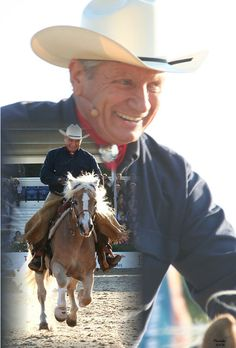 Monty Roberts - Many people say horse whisperer..... Iv seen him live. He doesn't whisper he watches, he listens and he communicates. No whips, no violence, just experience.  Great guy. Natural horsemanship all the way!!!!