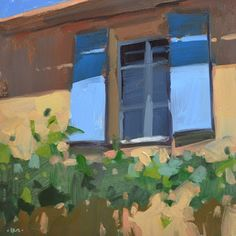 Carol Marine's Painting a Day: Blue Shutters