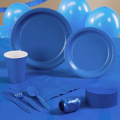 "Go ""all-in"" blue with supplies for your very own cocktail party decidedly...well, BLUE!"