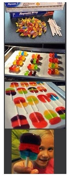 Lolipop diy! Perfct for the candy table---red, blue, yellow!