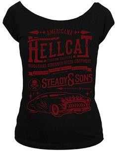 Hell Cat Scoop Neck Tee