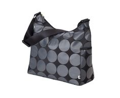 Hobo Charcoal Dot Lime Line Baby Nappy Bags, Diaper Bag, Wipes Case, Hobo Style, Wet Bag, Everyday Bag, Hobo Bag, Stay Warm, Shoulder Strap