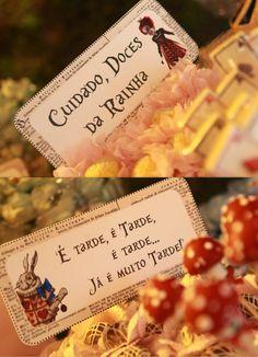 Meninas, A festa de 1 ano da Julia, com o tema Alice no País das Maravilhas, foi uma daquelas decorações que é a cara das Meninas da ...