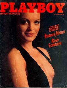 Romy Schneider 1980 French Playboy.