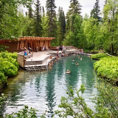 Liard River Hot Springs, second largest in all of Canada. Tucked away in the thick of a boreal spruce forest in northern BC Vacation Places, Vacation Destinations, Vacation Trips, Dream Vacations, Vacation Spots, Places To Travel, Canada Destinations, Beautiful Places To Visit, Oh The Places You'll Go