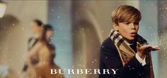 12-year-old Romeo Beckham in a Christmas Burberry campaign in 2014.