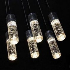 6 Lights- NEW LED Crystal Bubble Shade Ceiling Light Pendant Lamp Chandelier