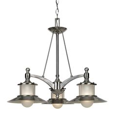 Buy the Quoizel Brushed Nickel Direct. Shop for the Quoizel Brushed Nickel New England 3 Light Wide Chandelier with Acid Etched Glass and save. Nautical Chandelier, Nautical Lighting, 3 Light Chandelier, 3 Light Pendant, Chandelier Shades, Pendant Lighting, Kitchen Chandelier, Coastal Lighting, Art Deco Lighting