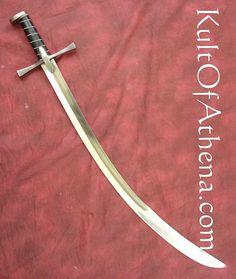 Swords And Daggers, Knives And Swords, Odin's Spear, Curved Swords, Sword Craft, Saber Sword, Cleaver Knife, Types Of Swords, Lightsaber