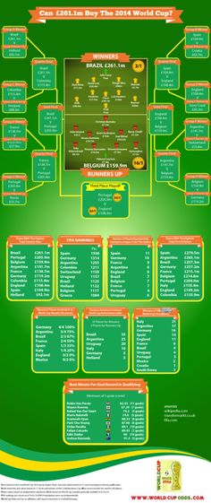 Can £261.1m Buy The 2014 World Cup? Infographic