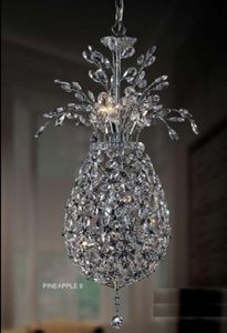 A blingy pineapple chandelier for a tiny house in Hawaii!