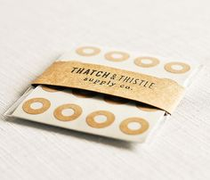 Kraft Brown Reinforcement Labels - Set of 144 - (0.56 Inch) Circles Stickers Gift Wrapping Party Invitations Embellishment Pretty Packaging on Etsy, $3.00