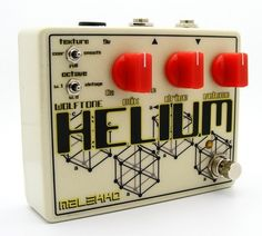 Sanctioned by Todd Wolfgram, Malekko is thrilled to release the hand-built, all-analog Wolftone HELIUM pedal. A brief history of the Wolftone pedals: in the early 2000's, Studio Electronics released two superb Todd Wolfgram designed effect pedals, the Wolftone HELIUM and Wolftone CHAOS. These pedals have since earned almost mythical status due to their intense distortions and unique sounds which were unlike anything else available as well as their rarity.
