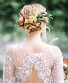 Peinado para novias estilo boho