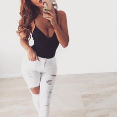 The best jeans ever // Use my code 'xoMarianne' for off site wide 💕🙌🏼 Denim Fashion, Fashion Outfits, Womens Fashion, Style Fashion, Fashion Beauty, House Party Outfit, Pretty Outfits, Cute Outfits, Summer Outfits